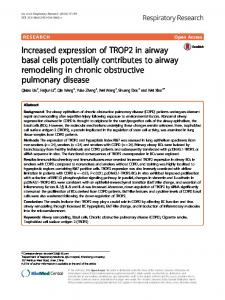Increased expression of TROP2 in airway basal cells potentially contributes to airway remodeling in chronic obstructive pulmonary disease