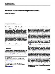 Incremental 3D reconstruction using Bayesian learning