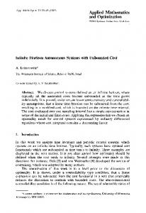Infinite horizon autonomous systems with unbounded cost