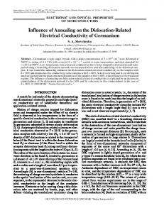 Influence of annealing on the dislocation-related electrical conductivity of germanium