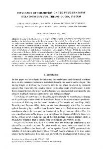Influence of chemistry on the flux-gradient relationships for the NO-O3-NO2 system