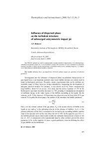 Influence of dispersed phase on the turbulent structure of submerged axisymmetric impact jet