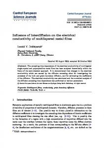 Influence of interdiffusion on the electrical conductivity of multilayered metal films