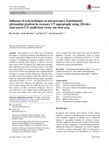 Influence of scan technique on intracoronary transluminal attenuation gradient in coronary CT angiography using 128-slice dual source CT: multi-beat versus one-beat scan