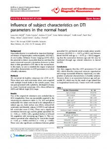Influence of subject characteristics on DTI parameters in the normal heart