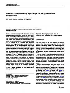 Influence of the boundary layer height on the global air–sea surface fluxes