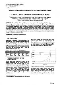 Influence of the chemical composition on the Thixoformability of steels