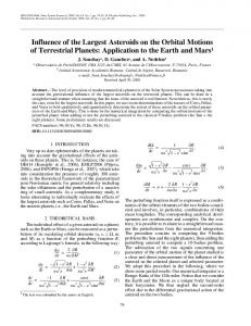 Influence of the largest asteroids on the orbital motions of terrestrial planets: application to the Earth and Mars