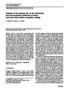 Influence of the particle size on the mechanical and electrochemical behaviour of micro- and nano-nickel matrix composite coatings