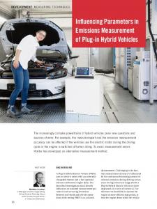 Influencing Parameters in Emissions Measurement of Plug-in Hybrid Vehicles