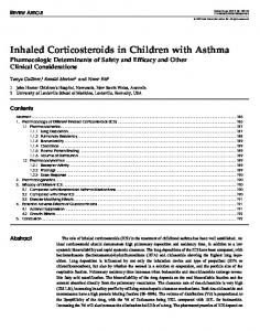 Inhaled Corticosteroids in Children with Asthma