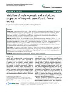 Inhibition of melanogenesis and antioxidant properties of Magnolia grandiflora L. flower extract