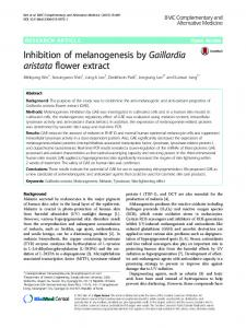 Inhibition of melanogenesis by Gaillardia aristata flower extract
