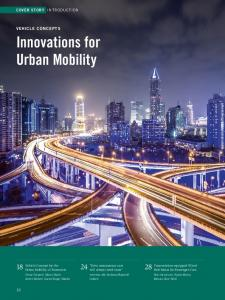 Innovations for Urban Mobility