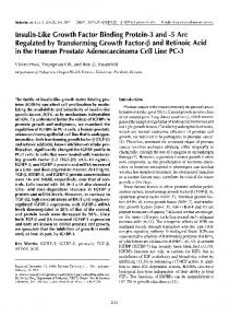 Insulin-like growth factor binding protein-3 and-5 are regulated by transforming growth factor-β and retinoic acid in the human prostate adenocarcinoma cell line PC-3