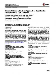 Insulin Matters: A Practical Approach to Basal Insulin Management in Type 2 Diabetes