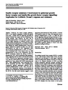 Insulin receptor substrate-1 involvement in epidermal growth factor receptor and insulin-like growth factor receptor signalling: implication for Gefitinib ('Iressa') response and resistance