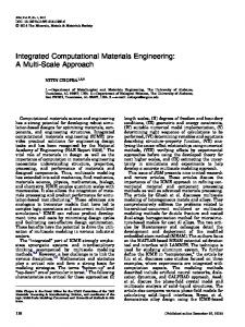 Integrated Computational Materials Engineering: A Multi-Scale Approach