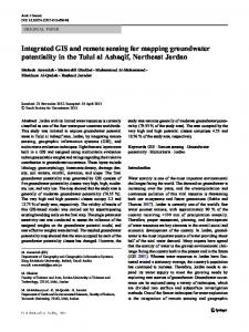 Integrated GIS and remote sensing for mapping groundwater potentiality in the Tulul al Ashaqif, Northeast Jordan