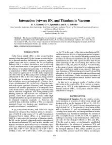 Interaction between BNc and titanium in vacuum