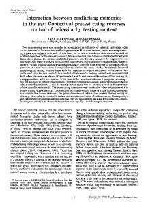 Interaction between conflicting memories in the rat: Contextual pretest cuing reverses control of behavior by testing context