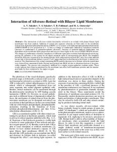Interaction of all-trans-Retinal with bilayer lipid membranes