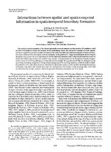 Interactions between spatial and spatiotemporal information in spatiotemporal boundary formation