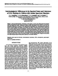 Interhemispheric differences in the spectral power and coherence of EEG rhythms in children with autism spectrum disorders