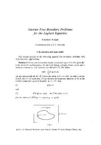 Interior free boundary problems for the Laplace equation
