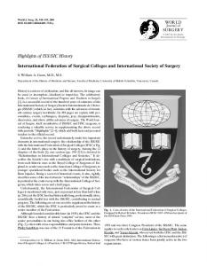 International Federation of Surgical Colleges and International Society of Surgery