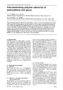 Interpenetrating polymer networks of polyurethane and epoxy