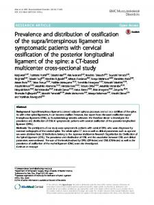 interspinous ligaments in symptomatic patients with cervical ossification of the posterior longitudinal ligament of the spine: a CT-based multicenter cross-sectional study