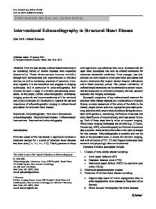 Interventional Echocardiography in Structural Heart Disease