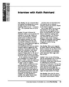 Interview with Keith Reinhard