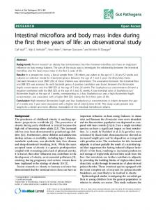 Intestinal microflora and body mass index during the first three years of life: an observational study