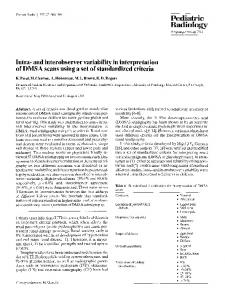 Intra- and interobserver variability in interpretation of DMSA scans using a set of standardized criteria