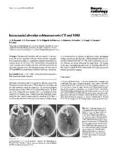 Intracranial alveolar echinococcosis: CT and MRI