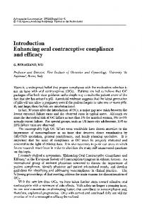 Introduction Enhancing oral contraceptive compliance and efficacy