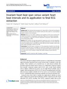 Invariant heart beat span versus variant heart beat intervals and its application to fetal ECG extraction