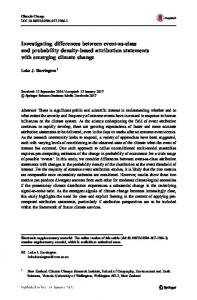 Investigating differences between event-as-class and probability density-based attribution statements with emerging climate change