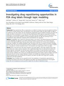 Investigating drug repositioning opportunities in FDA drug labels through topic modeling
