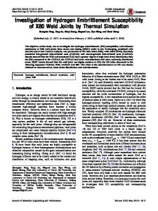 Investigation of Hydrogen Embrittlement Susceptibility of X80 Weld Joints by Thermal Simulation