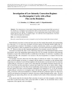 Investigation of low-intensity convection regimes in a rectangular cavity with a heat flux on the boundary