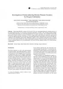 Investigation of Semiconducting Barium Titanate Ceramics by Oxygen Coulometry