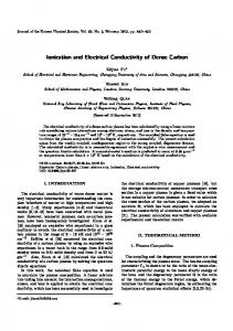 Ionization and electrical conductivity of dense carbon