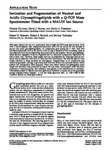 Ionization and fragmentation of neutral and acidic glycosphingolipids with a Q-TOF mass spectrometer fitted with a MALDI ion source