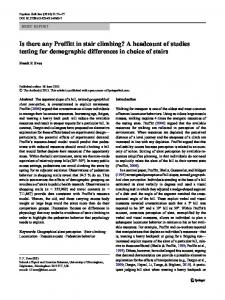 Is there any Proffitt in stair climbing? A headcount of studies testing for demographic differences in choice of stairs