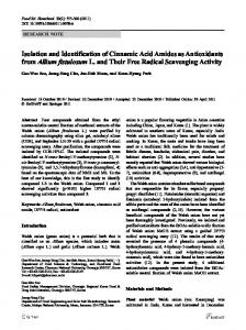 Isolation and identification of cinnamic acid amides as antioxidants from Allium fistulosum L. and their free radical scavenging activity