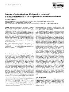 Isolation of cobamides from Methanothrix soehngenii: 5-methylbenzimidazole as the α-ligand of the predominant cobamide