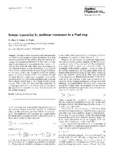 Isotope separation by nonlinear resonances in a Paul trap